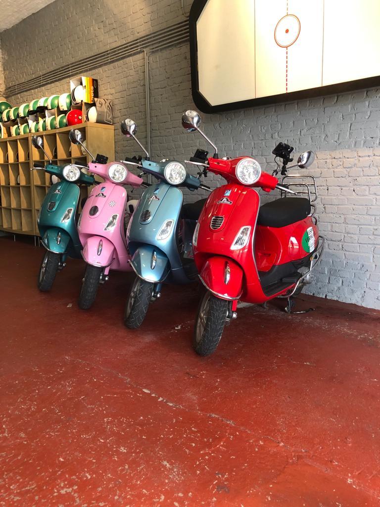 verhuur vespa scooters bilzen